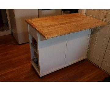 Real Simple Rolling Drop-Leaf Kitchen Counter