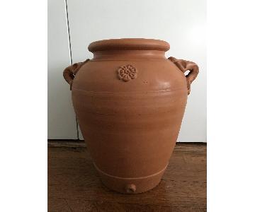 Vintage Tuscan Terracotta Urn