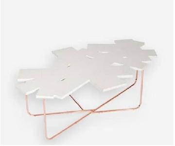 Sauder White Confetti Coffee Table