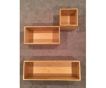 Customizable Birch Plywood Wall Shelving