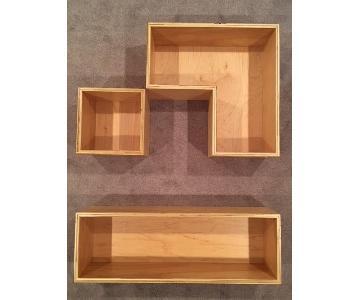 Customizable Birch Plywood Modern Wall Shelves