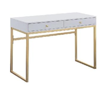 White & Gold Desk