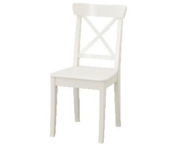 White Wood Dining Chair