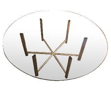 Glass Circular Coffee Table
