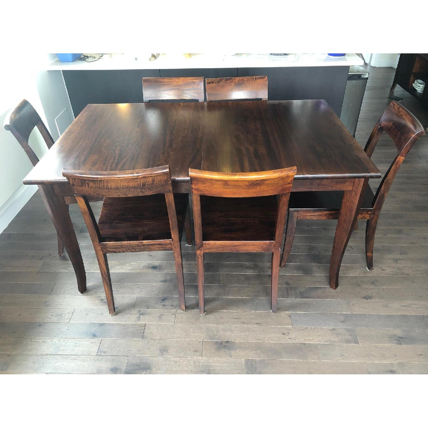 Crate Barrel Cabria Dining Table W 6 Chairs Aptdeco