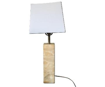 Mid-Century Modern Italian Marble Table Lamp