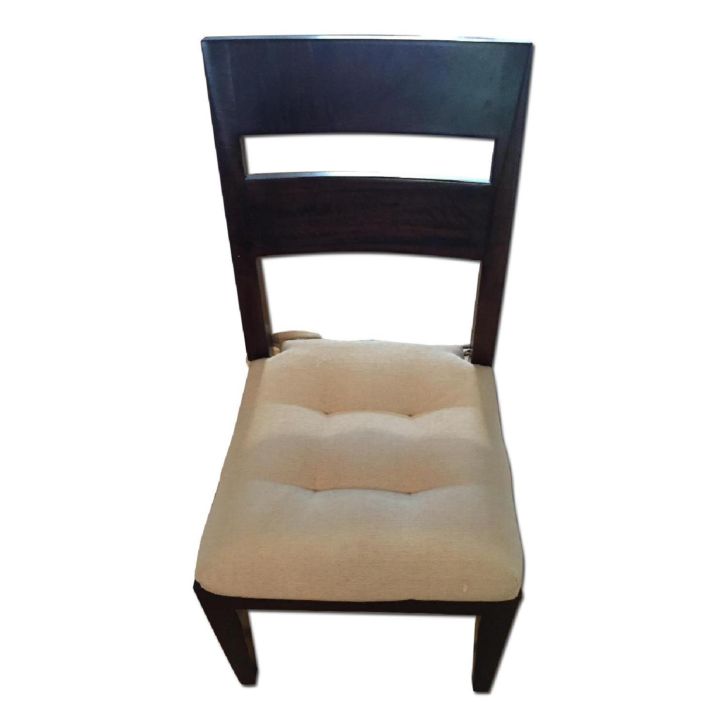Crate Amp Barrel Basque Dining Chair In Java W Cushions
