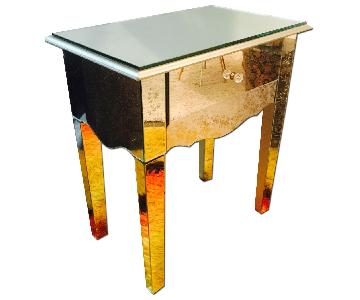 Glam Mirrored Night Stand/Side Table