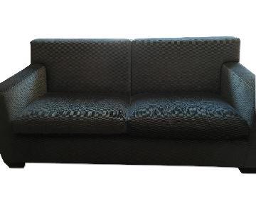 Queen Size Blue Sleeper Sofa