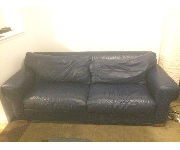 Ethan Allen Down Leather Sofa