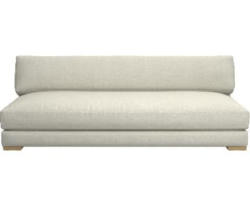 CB2 Piazza Sofa in Linen/Poly Fabric
