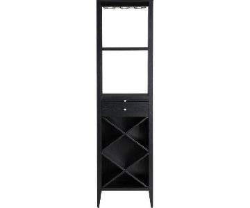 Crate & Barrel Triad Black Wine Tower