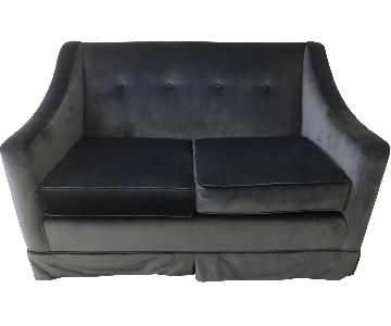 Blue Velvet Loveseat