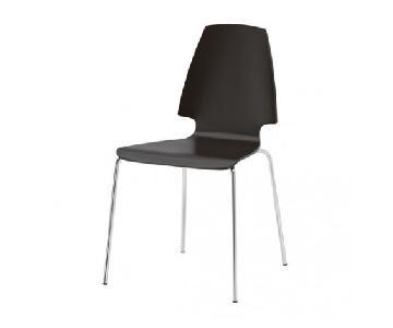 Ikea Vilmar Black Chairs