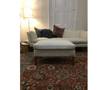 Restoration Hardware Sorensen Sofa & Ottoman