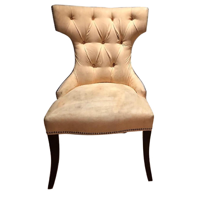 Custom Tufted Dining Chairs w/ Nailhead Trim