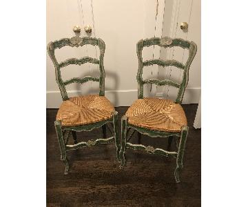 Wood & Wicker Dining Chairs