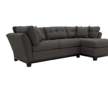 Raymour & Flanigan Metropolis Sectional Sofa w/ Chaise