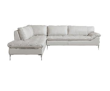 Bloomingdale's Modern Leather Sectional Sofa
