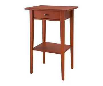 Ikea Hemnes Nightstands in Red