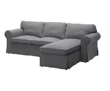 Ikea Ektorp Sectional Sofa w/ Chaise & Ottoman