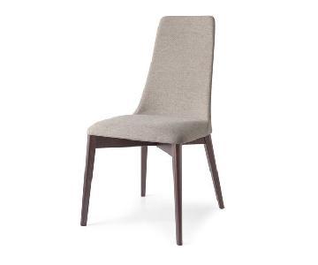 Calligaris Etoile Fabric & Walnut Dining Chairs
