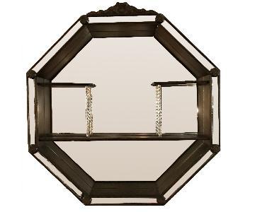 Vintage Mirrored Shelf