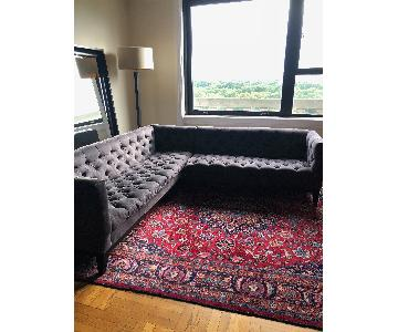 ABC Carpet and Home Sectional Sofa w/ Tufted Seat/Back