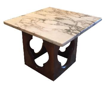 Marble & Wood Side Tables