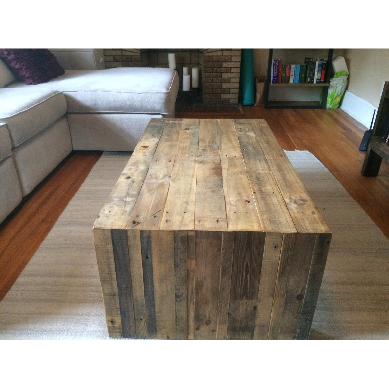 West Elm Emmerson Reclaimed Wood Coffee Table AptDeco - West elm plank coffee table