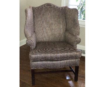 Century Furniture Tweed Wing Chair
