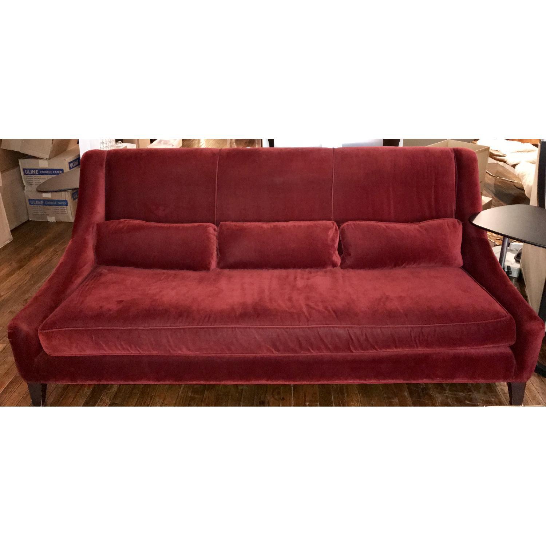 ... Mitchell Gold + Bob Williams Red Velvet Sofa 0 ...