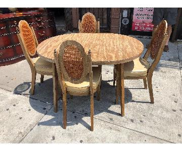 Mid Century 1950s Extendable Dining Table w/ 4 Chairs