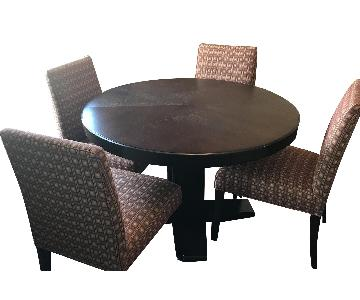 Crate & Barrel Collina Round Dining Table w/ 4 Chairs