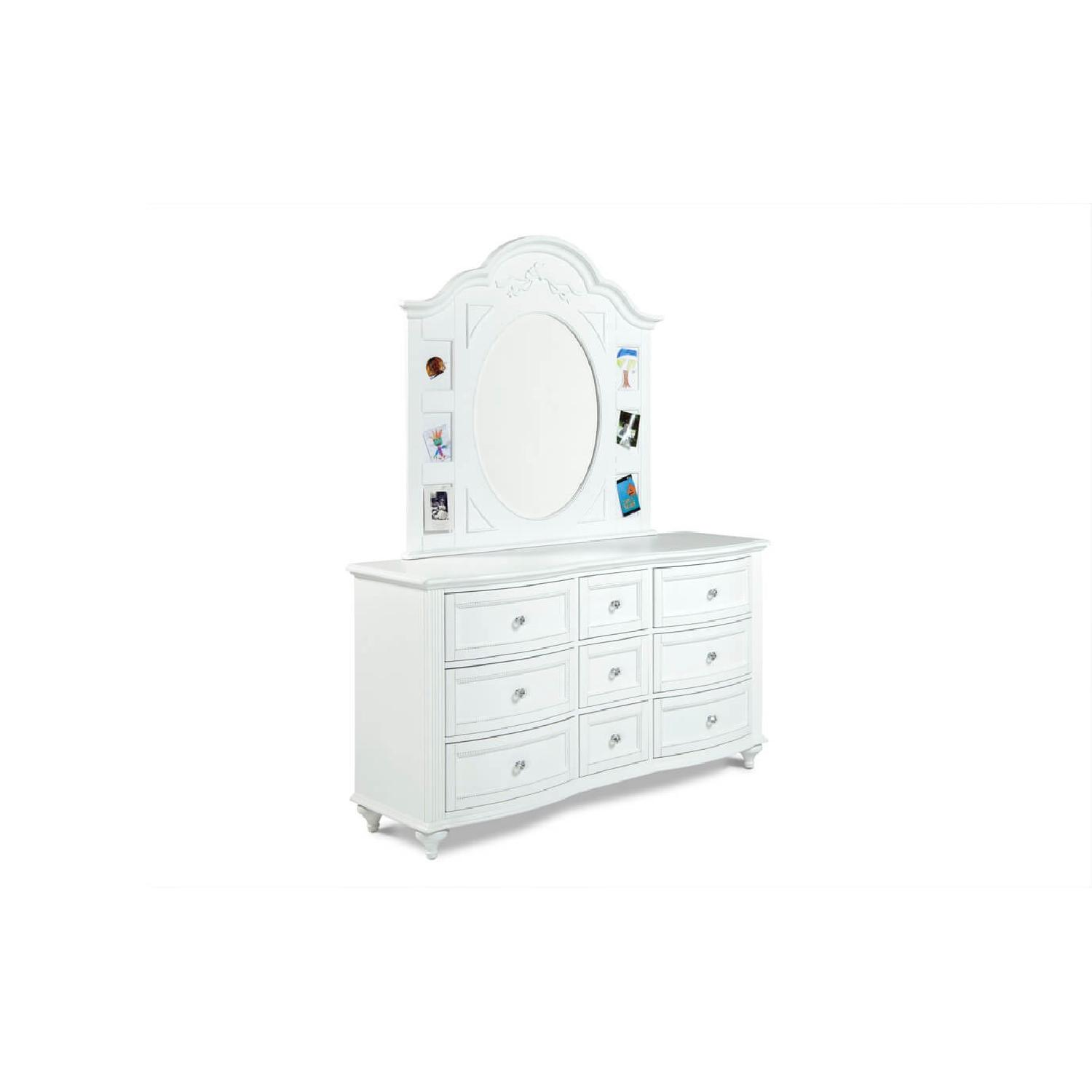 Bobu0027s Madelyn White Dresser W/ Crystal Knobs U0026 Mirror ...