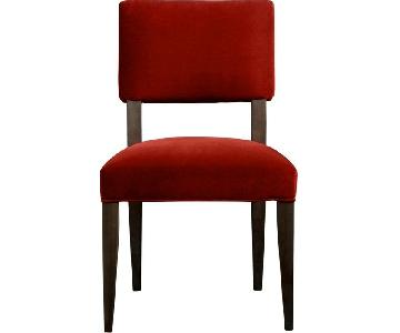 Crate & Barrel Red Upholstered Dining Chairs