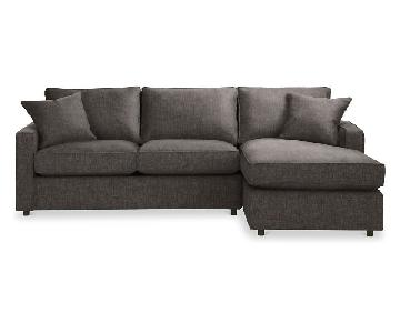 Room & Board York Sleeper Chaise Sectional Sofa