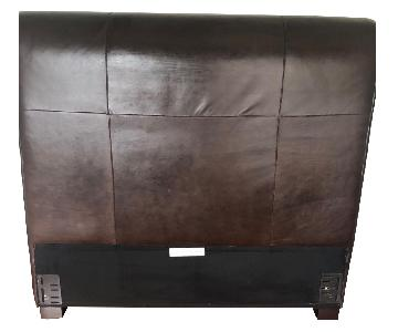 Pottery Barn Leather Full Size Headboard
