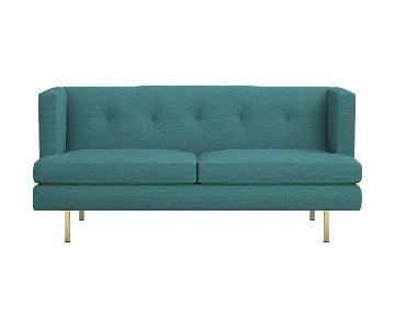 CB2 Avec Apartment Sofa + Chair in Delilah Peacock