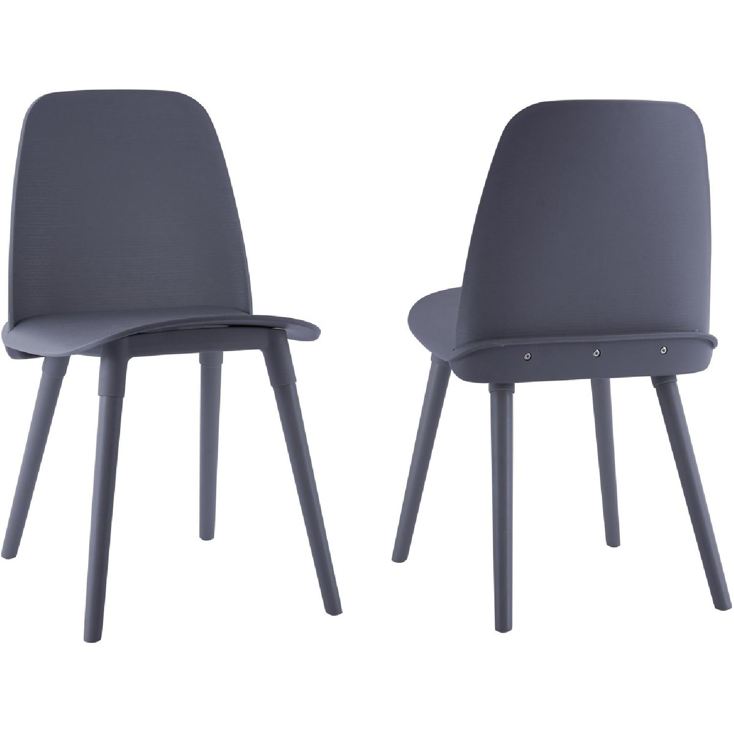 TOV Furniture Cosmo Grey Set Of 2 Chairs ...