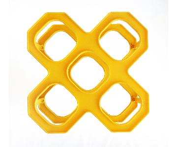Vintage Yellow Wine Racks