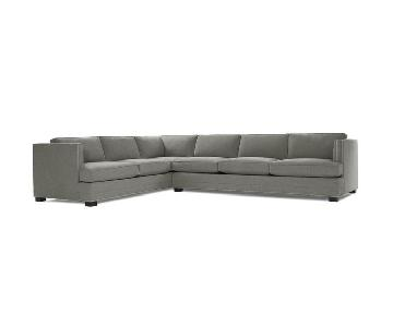 Mitchell Gold + Bob Williams Keaton Sectional inTeller Grey