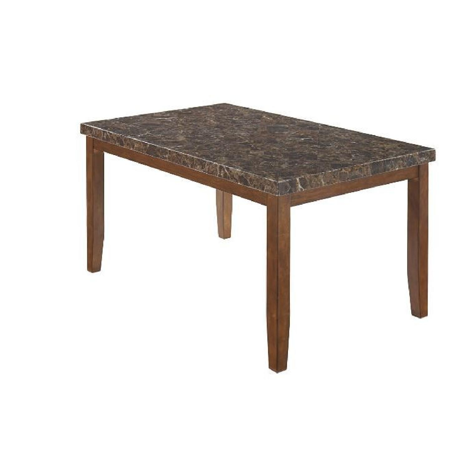 Ashley Brown Faux Marble Top Dining Table