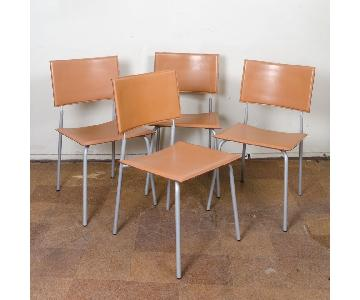 Knoll Italian Leather Dining Chairs
