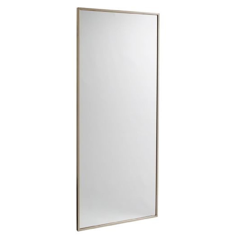 West Elm Metal Framed Floor Mirror - AptDeco