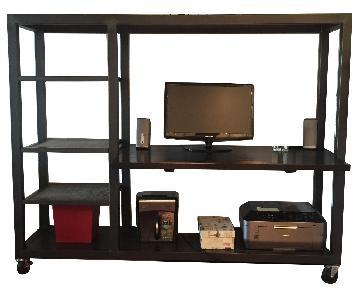 Room & Board Natural Steel Desk on Casters