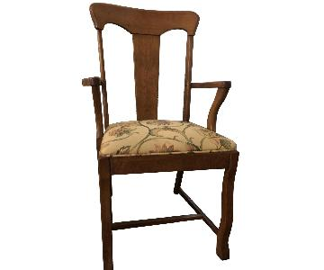 Antique Solid Oak Dining/Accent Chairs.