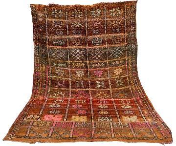 Vintage Moroccan Berber Tribal Rug