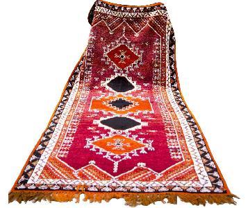 Vintage Moroccan Berber Tribal Area Rug