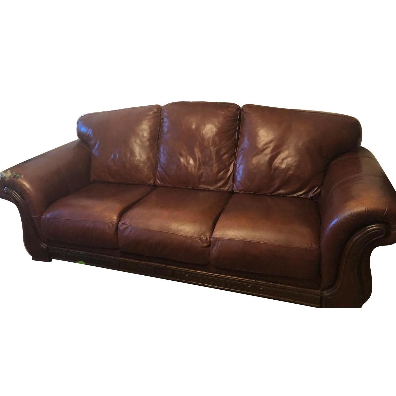 Bon Italiana Divani Chateau Du0027Ax Brown Leather Sofa ...